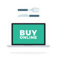 buy food online flat isolated vector image vector image