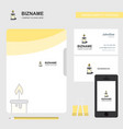 candle business logo file cover visiting card and vector image