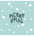 Card with an inscription Marry Xmas on a light vector image vector image