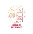 cash-in refinance concept icon vector image vector image