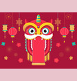 chinese new year background greeting card with a vector image vector image