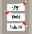 christmas banners with holiday greeting quotes and vector image vector image