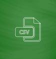 CSV computer symbol vector image vector image