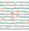 cute pattern with funky arrows and stripes on vector image vector image