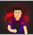 cyber bullying man background graphic vector image