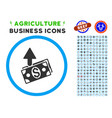 expences rounded icon with set vector image