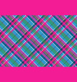 fabric textile blue pink green check plaid vector image vector image