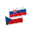 flags czech republic and slovakia on a white vector image