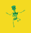 flat on background of skeleton halloween monster vector image vector image