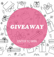 giveaway card template vector image vector image
