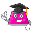 graduation trapezoid character cartoon style vector image vector image