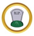 Grave rip icon vector image vector image