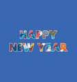 happy new year concept word art vector image vector image