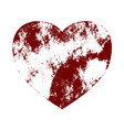 heart distress isolated vector image vector image