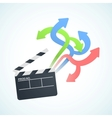 large selection of movies vector image