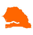 Map of Senegal vector image