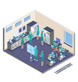 microbiology isometric composition vector image vector image