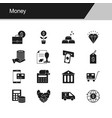 money icons design for presentation graphic vector image vector image