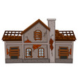 old brick house in bad condition vector image vector image