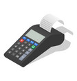 payment terminal icon set isometric style vector image