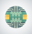 printed circuit board icon vector image