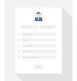 registration form vector image