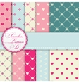 Romantic Seamless Pattern Background Set vector image