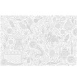 russia world cup white pattern vector image vector image