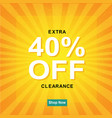 sale poster with sunburst vector image