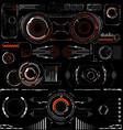 sci-fi futuristic glowing hud display vitrual vector image vector image
