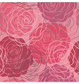 seamless pattern in red and pink roses vector image vector image