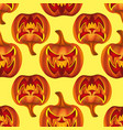 seamless pattern with pumkins on background vector image vector image