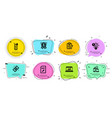 seo devices water glass and time management icons vector image vector image