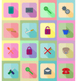 service flat icons 20 vector image vector image