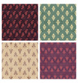 set of grunge seamless pattern of grapes vector image vector image