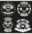 Set of Vintage Motor Club Signs and Label vector image vector image