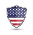 shield with flag of usa isolated vector image vector image