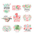 spring 1 may set original design spring holidays vector image vector image