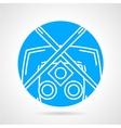 Sushi menu round icon vector image vector image