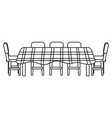 table icon cartoon black and white vector image