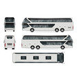 travel bus template vector image vector image