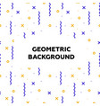 trendy geometric elements place for text memphis vector image vector image