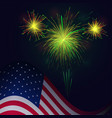 united states flag and celebration 4th of july vector image vector image