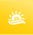 uv protection icon ultraviolet light vector image vector image