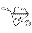 wheelbarrow garden line icon sign vector image vector image