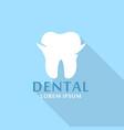 white dental logo icon flat style vector image