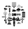 windmill icons set simple style vector image vector image