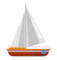 yacht sailboat or sailing ship sail boat marine vector image