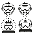 Set of Vintage Motor Club Badge and Label vector image
