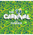 carnival from brazil vacation on vector image